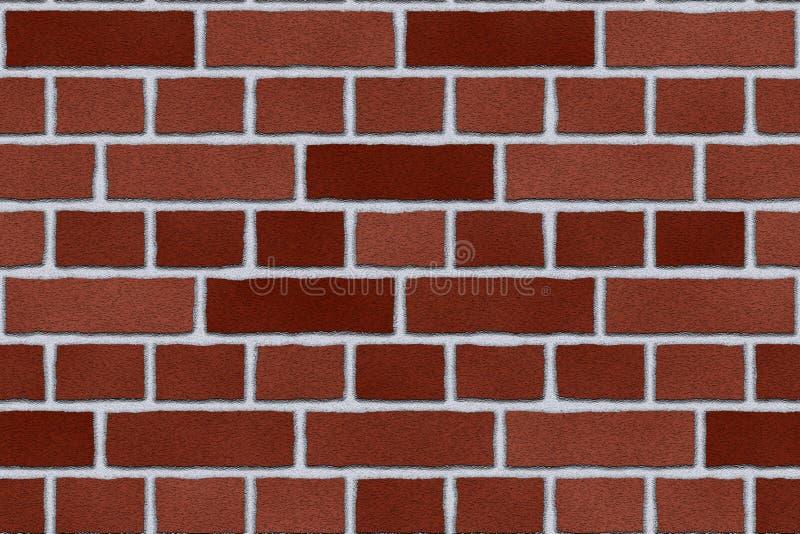 Mur extérieur de brique rouge illustration libre de droits