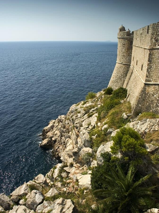 Mur extérieur, Dubrovnik image libre de droits