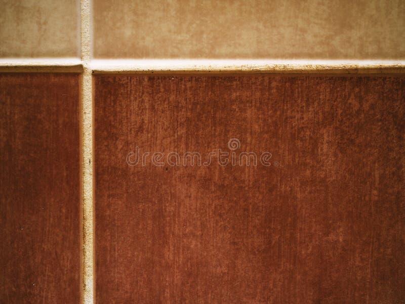 Mur fait sur commande de backsplash de salle de bains de tuile images libres de droits