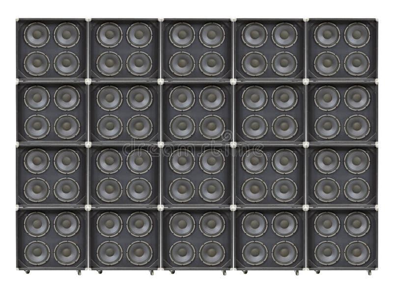 Mur géant de Bass Speakers images stock