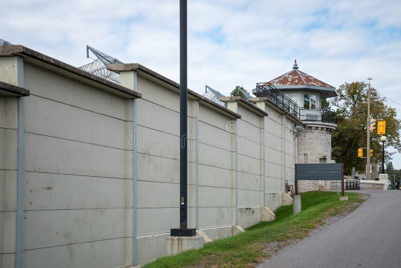 Mur grand de prison photographie stock