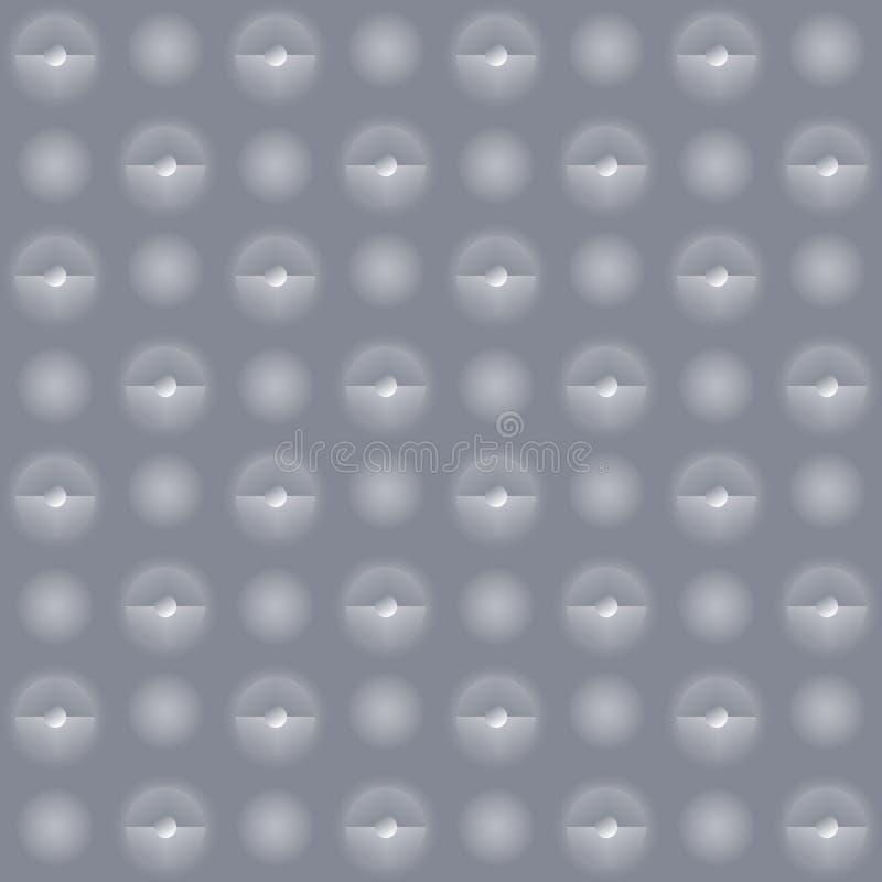 Mur gris avec de petits faiblement projecteurs lumineux illustration de vecteur