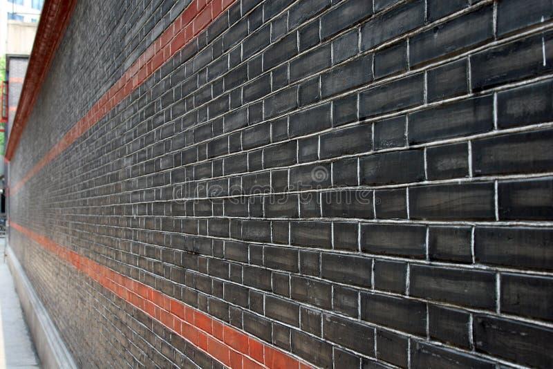 Mur gris de brique avec la ligne rouge image stock image Mur de brique gris