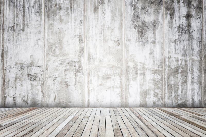 mur gris de ciment avec la texture et le fond en bois de planche illustration stock image. Black Bedroom Furniture Sets. Home Design Ideas