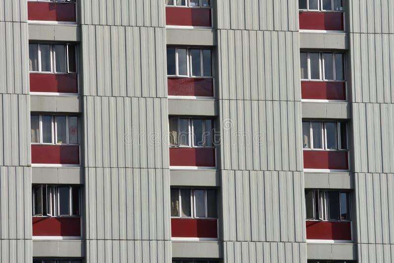 Mur gris de l'immeuble photo libre de droits