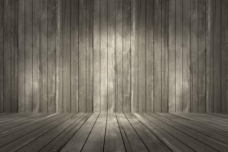 Mur gris et fond en bois photo stock