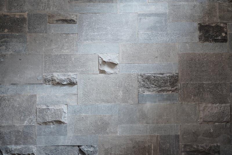 Mur gris grunge de texture de fond de briques de couleur avec la couleur foncée photos libres de droits