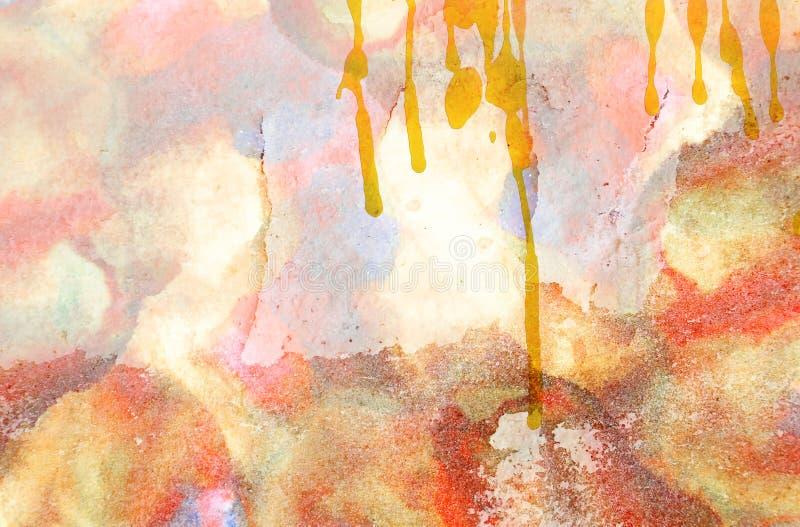 Mur grunge et aquarelle photographie stock libre de droits