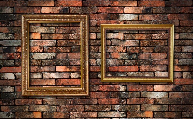 Mur grunge et deux trames images libres de droits