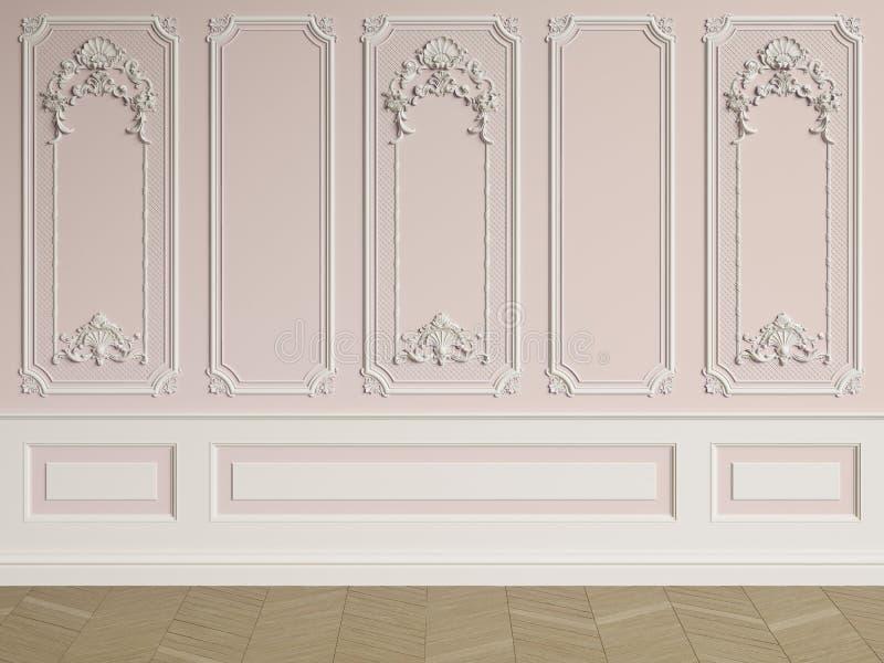 Mur intérieur classique avec des bâtis illustration de vecteur