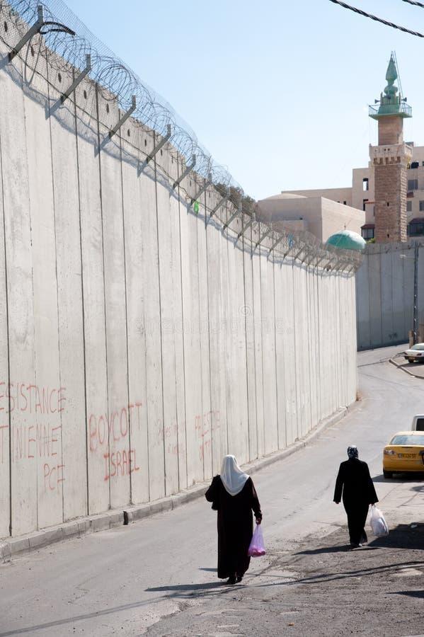 Mur israélien de séparation photographie stock