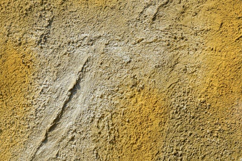 mur Jaune-gris de ciment Fond décoratif abstrait de stuc image libre de droits