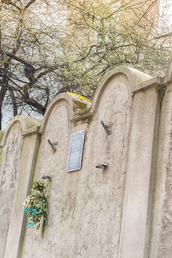 Mur juif de ghetto, Cracovie, Pologne photos stock
