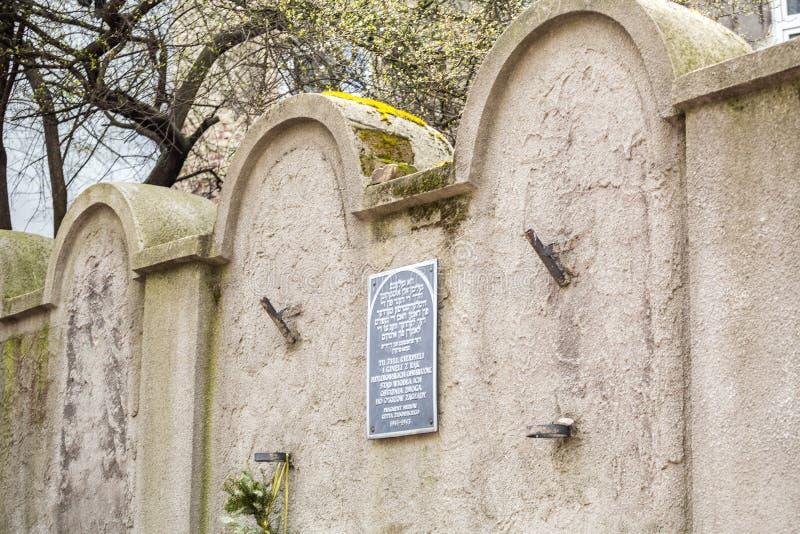 Mur juif de ghetto, Cracovie, Pologne photographie stock