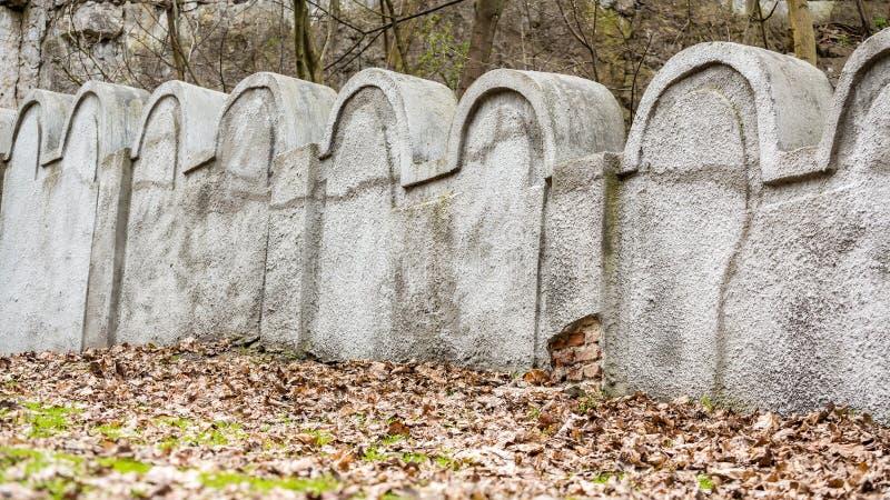 Mur juif de ghetto, Cracovie, Pologne images stock