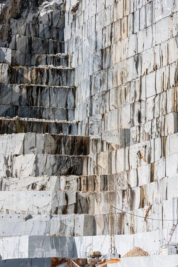 Mur kamieniołomów marmurowych w Carrara, Włochy fotografia stock