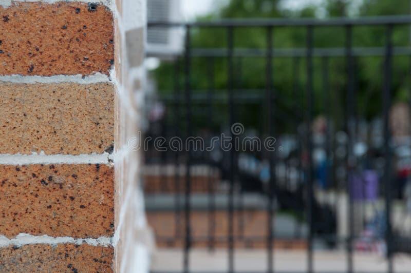 Mur latéral de brique image libre de droits