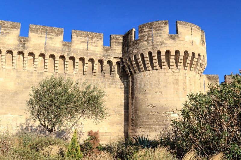 Mur médiéval de ville d'Avignon photographie stock libre de droits