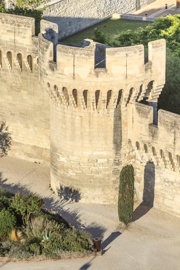 Mur médiéval de ville d'Avignon photographie stock