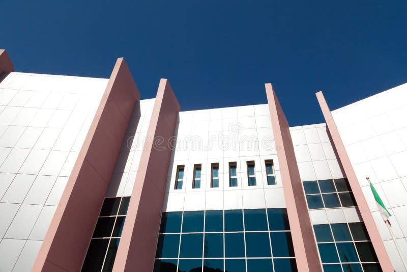 Mur moderne de façade de construction images libres de droits