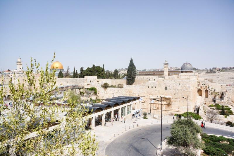 Mur pleurant et Esplanade des mosquées photo libre de droits