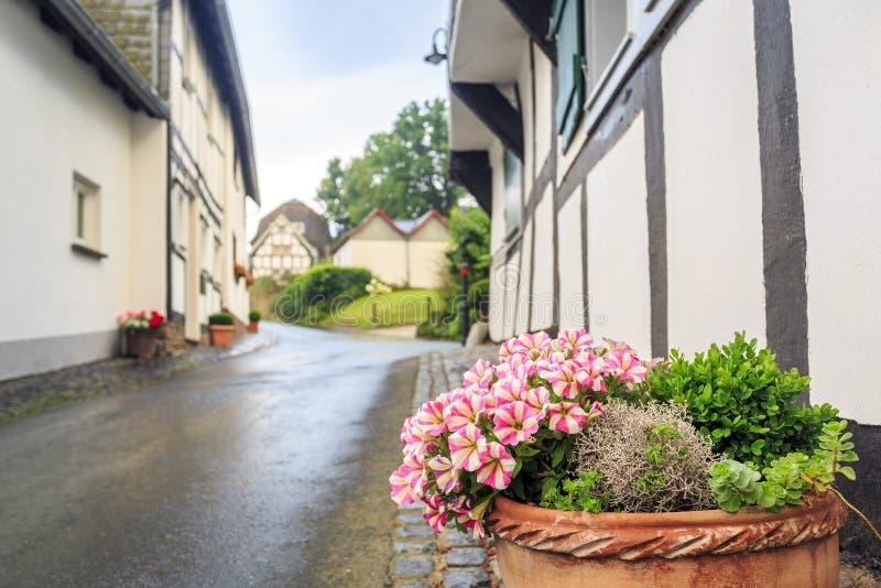 Mur prussien traditionnel dans l'architecture en Allemagne photo stock