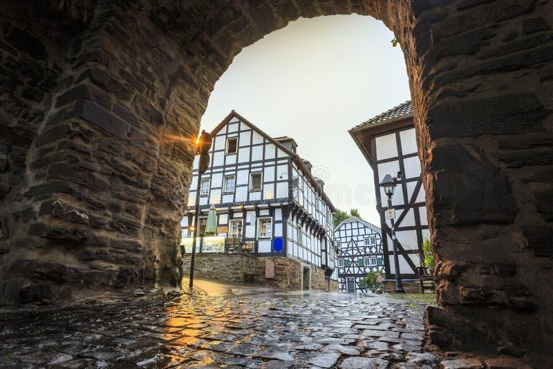 Mur prussien traditionnel dans l'architecture en Allemagne image libre de droits