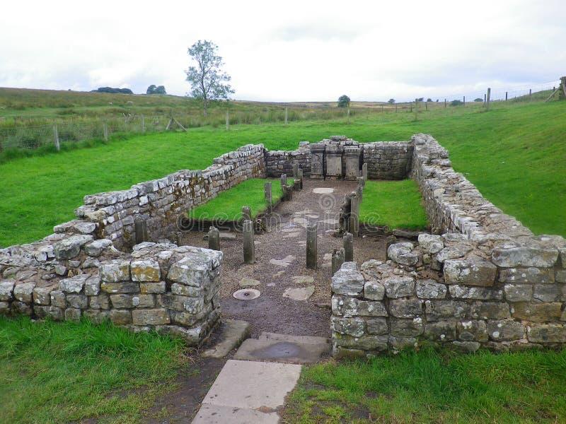 Mur romain de Hadrian de temple photo stock