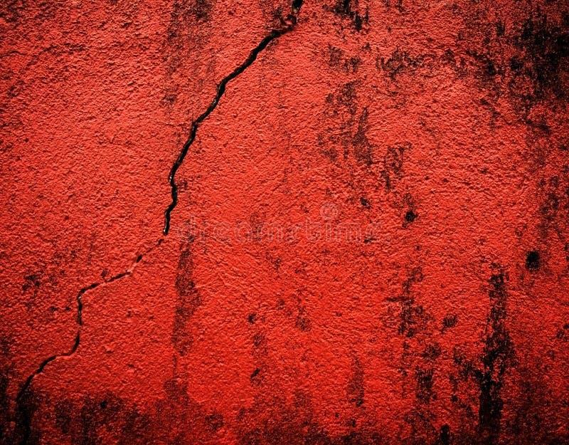 Mur rouge criqué photos libres de droits