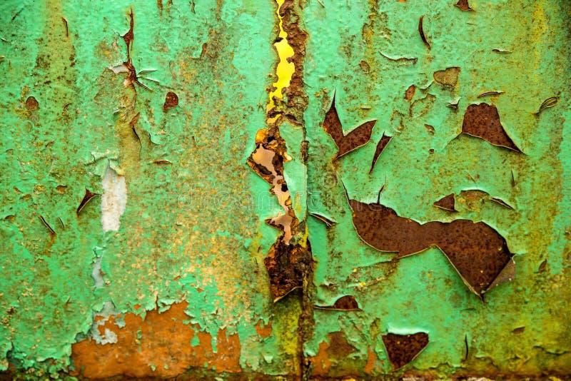 Mur rouillé avec la couleur ébréchée photo stock