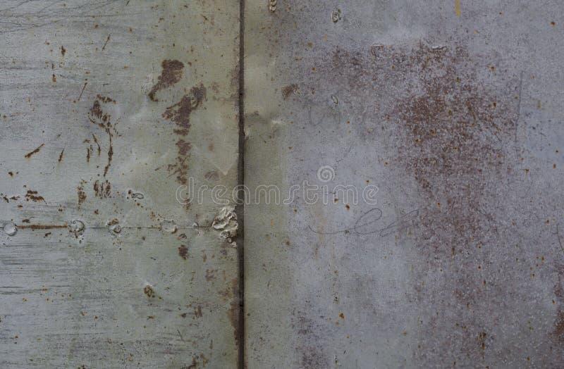 Mur rouillé en métal Vieille texture rouillée de plategrunge en métal images libres de droits