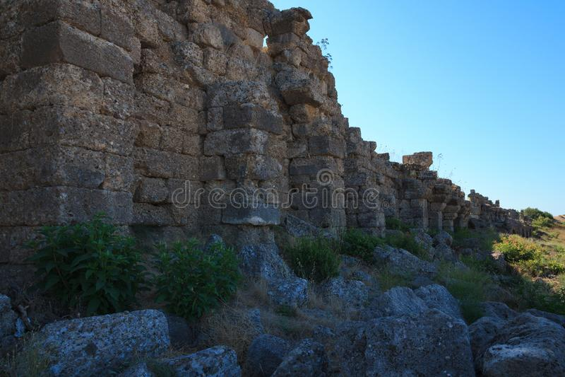 Mur ruiné photos libres de droits