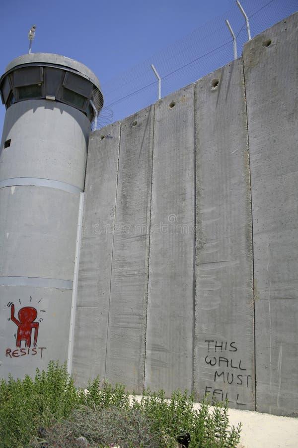 Mur séparant l'Israël images libres de droits
