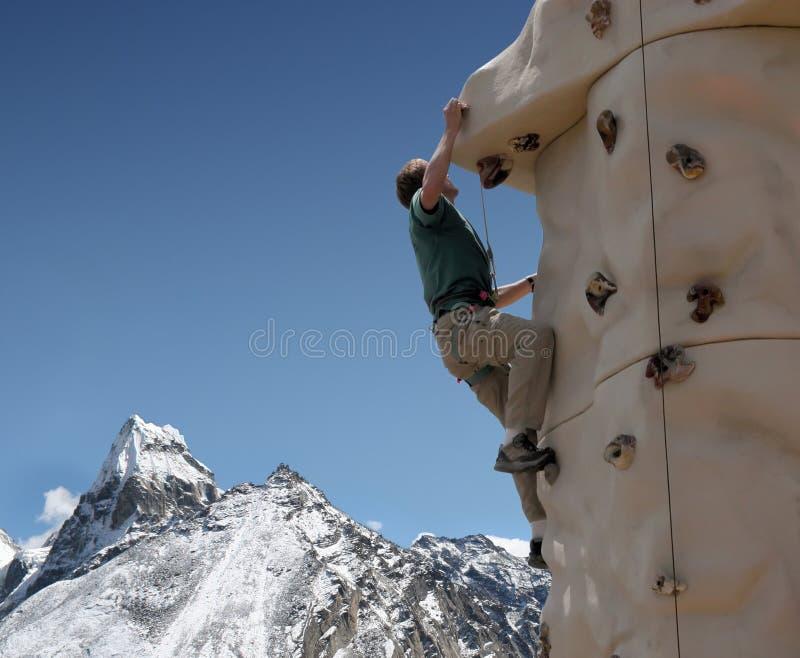 Mur s'élevant - Népal photographie stock