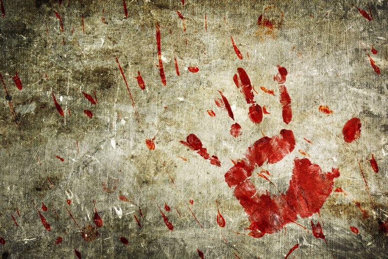 Mur sanglant illustration libre de droits