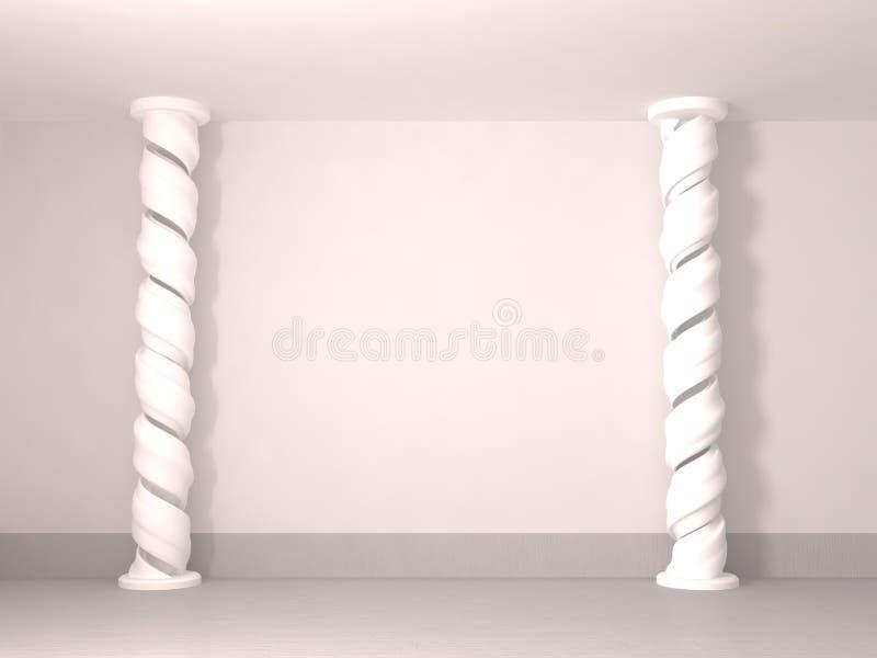 Mur spiralé de pilier, blanc illustration de vecteur
