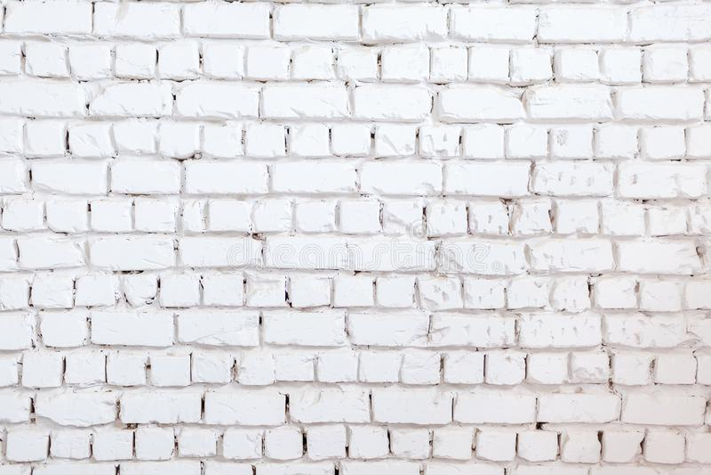 mur tła white Tekstura kamienna ściana Ściana z cegieł farbujący w białym kolorze fotografia royalty free