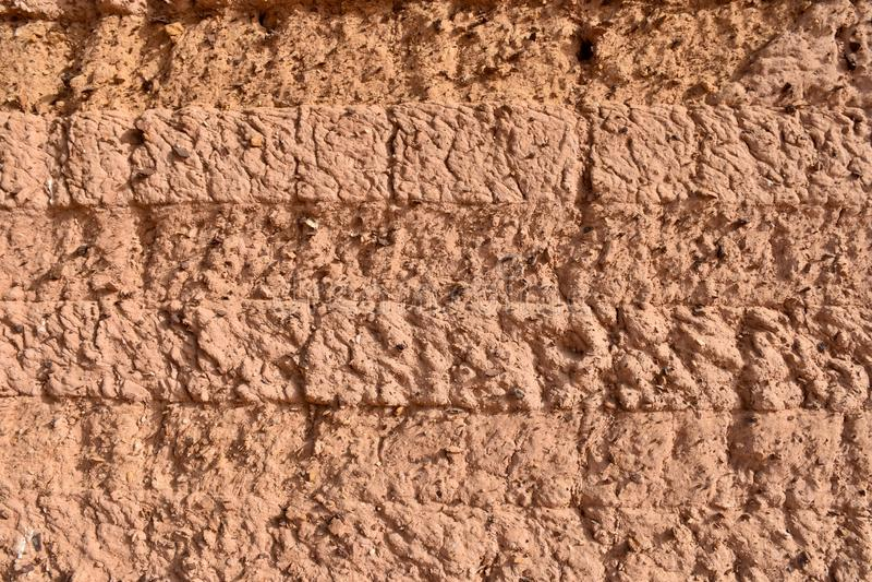 Mur texturis? de maison de brique de boue au Soudan photo stock