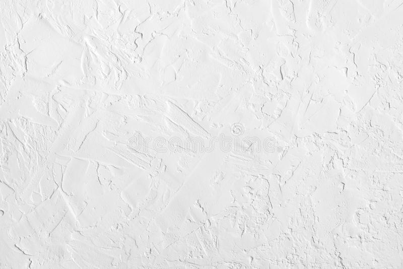 Mur texturisé rugueux abstrait blanc Configuration de fond de cru image libre de droits