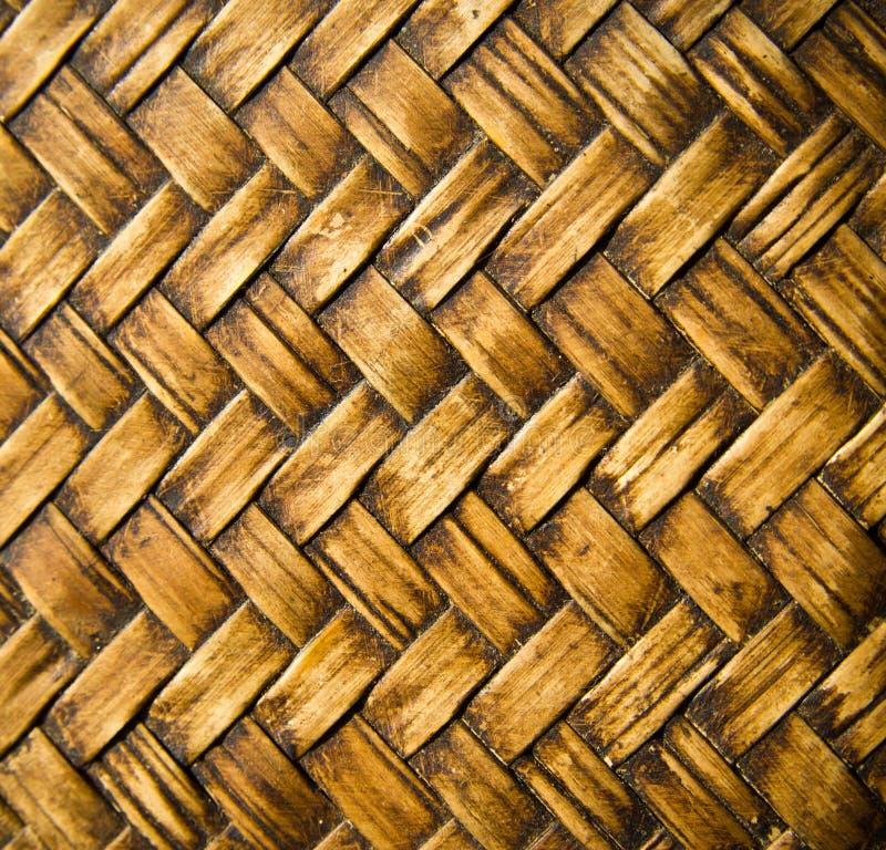 Mur thaïlandais indigène de bambou de style image libre de droits