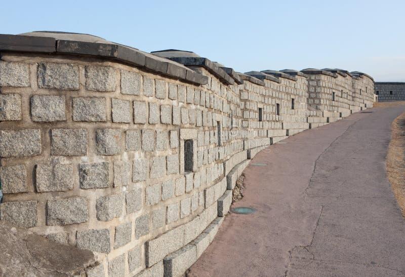 Mur traditionnel de la Corée photos libres de droits