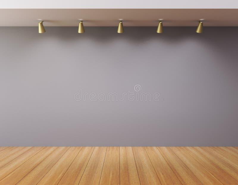Mur vide dans une galerie vide photos stock
