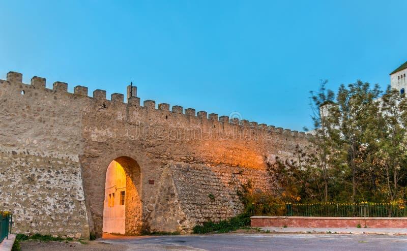 Mura di cinta antichi di Safi, Marocco fotografie stock libere da diritti