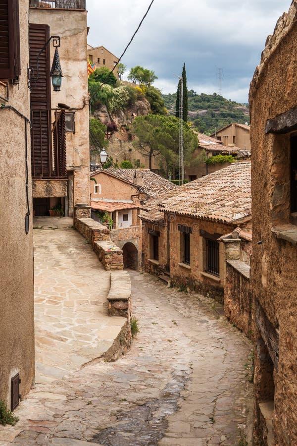 Mura streets. Photograph of street in Mura, Barcelona, Spain stock photo