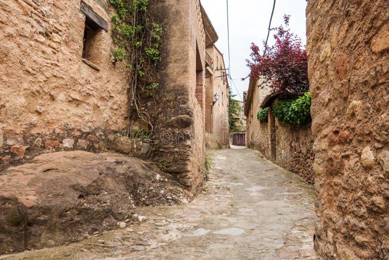 Mura streets. Photograph of street in Mura, Barcelona, Spain royalty free stock photo