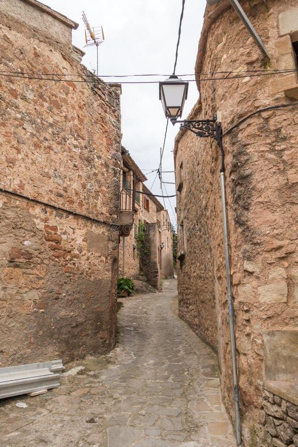 Mura streets. Photograph of street in Mura, Barcelona, Spain stock images