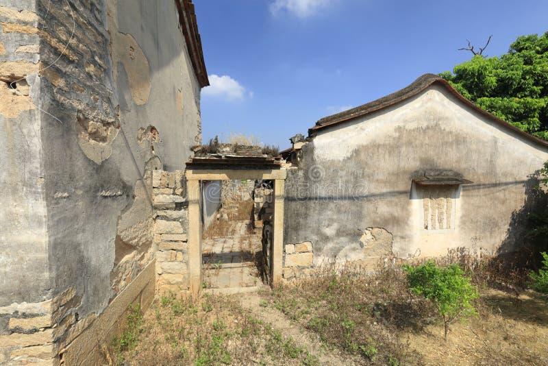 Murai dilapidado en el pueblo del zhaojiabao, adobe rgb imágenes de archivo libres de regalías