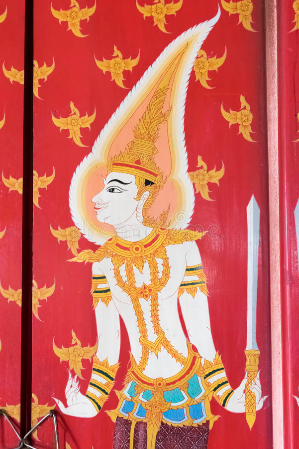 mural Ταϊλανδός στοκ εικόνες με δικαίωμα ελεύθερης χρήσης