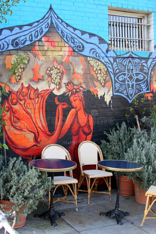 mural υπαίθριο patio στοκ εικόνες