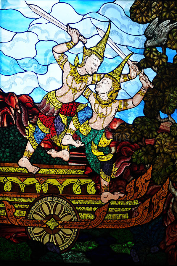 Download Mural stock photo. Image of thai, culture, angle, heaven - 26339646